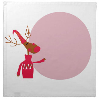 Reindeer cute animal xmas napkin