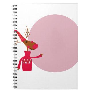 Reindeer cute animal xmas notebook