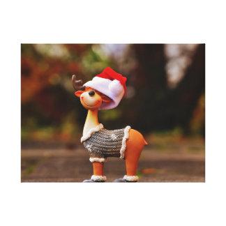 Reindeer decorations - christmas reindeer canvas print