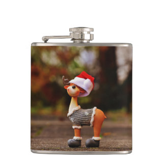 Reindeer decorations - christmas reindeer hip flask