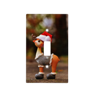 Reindeer decorations - christmas reindeer light switch cover
