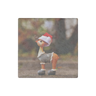 Reindeer decorations - christmas reindeer stone magnets