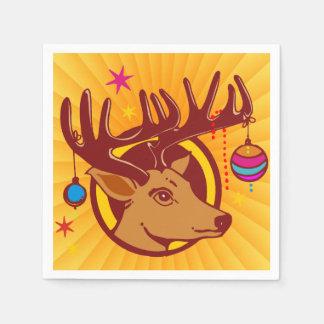 Reindeer / Deer / Christmas + your idea Disposable Napkins
