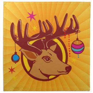 Reindeer Deer Christmas + your text backgr Napkins