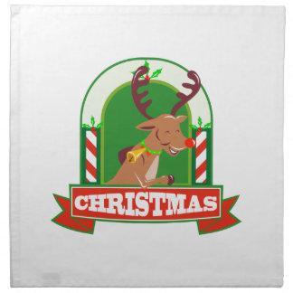 Reindeer Deer Stag Buck Christmas Cloth Napkins