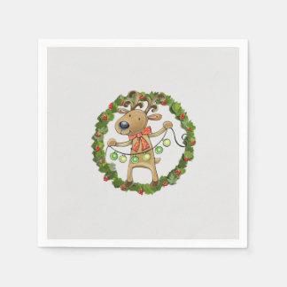 Reindeer Disposable Napkin
