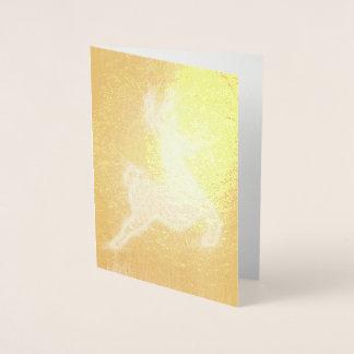 Reindeer Foil Card