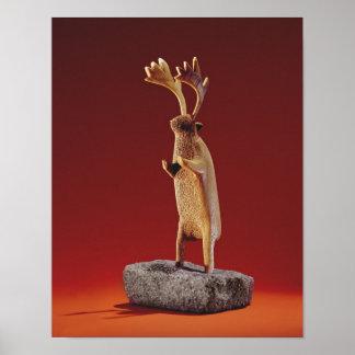 Reindeer, from Cape Dorset Poster