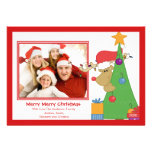 Reindeer Fun Christmas Flat Photo Card Custom Invite