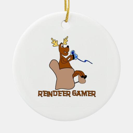 Reindeer Gamer Ornament