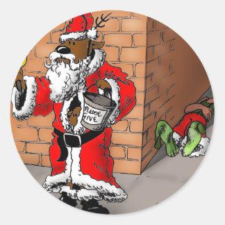 reindeer games 4 round sticker