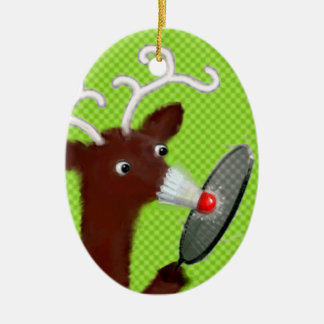 reindeer games ceramic ornament