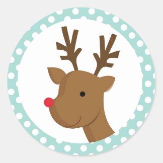 Reindeer Games Classic Round Sticker