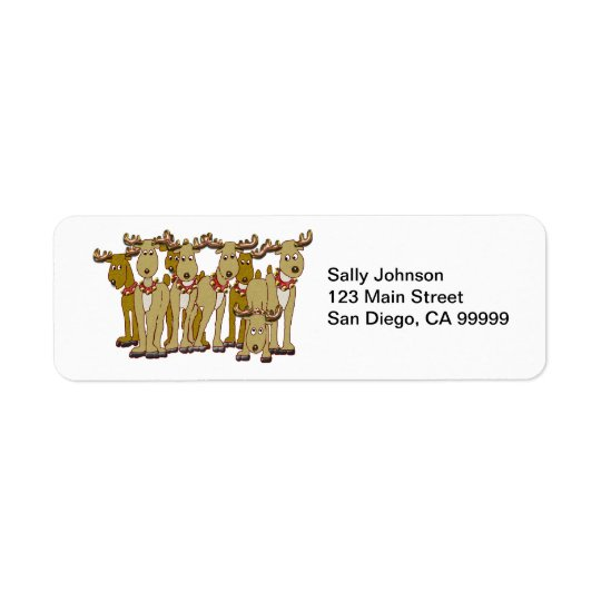 Reindeer Gang Return Address Label