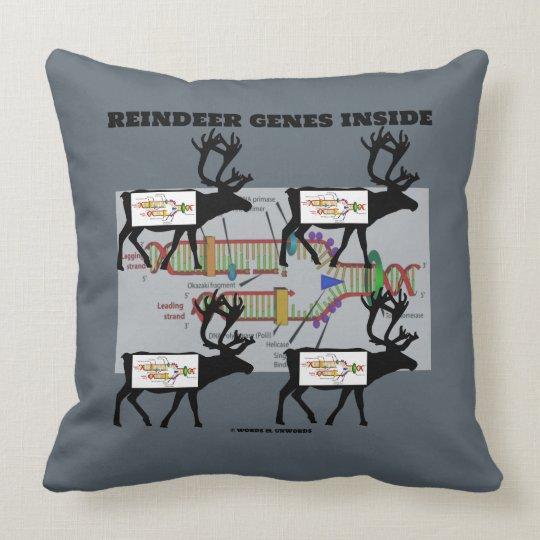 Reindeer Genes Inside Molecular Biology Geek Throw Pillow