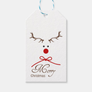 Reindeer Gift Tag Pack Of Gift Tags