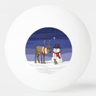 Reindeer Giving Rabbit Snowman Carrot Nose Ping Pong Ball