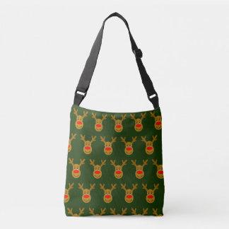 Reindeer Head Green TP Crossbody Bag