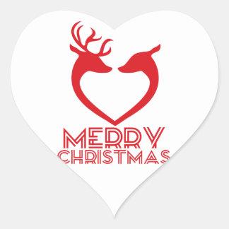 Reindeer Heart Heart Sticker