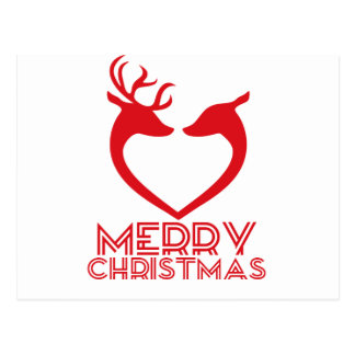 Reindeer Heart Postcard