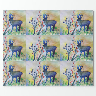 Reindeer Hearts Love  Matte Wrapping Paper