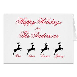 """Reindeer"" Holiday Card"