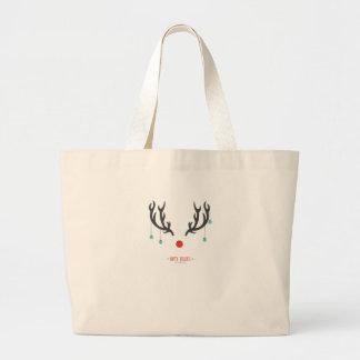 reindeer horn large tote bag