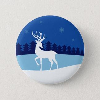 Reindeer illustration button