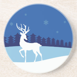 Reindeer Illustration coaster
