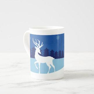 Reindeer Illustration custom name mug