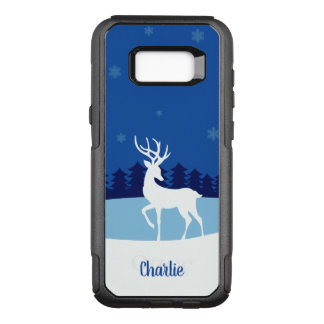Reindeer illustration custom name phone cases
