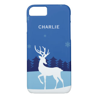 Reindeer illustration custom name phone cases