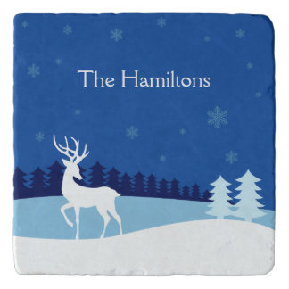 Reindeer illustration custom name trivets
