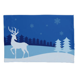 Reindeer illustration pillowcases