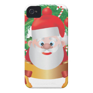 Reindeer in Christmas Wreath Illustration iPhone 4 Case