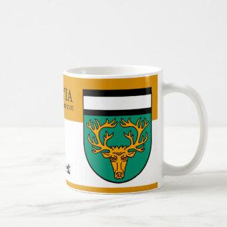 Reindeer in Green Shield from Akniste, Latvia Coffee Mug