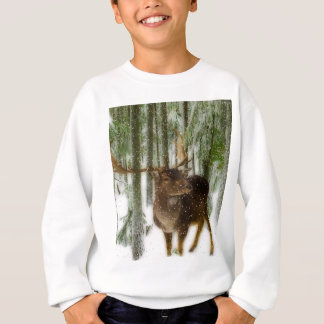 Reindeer in Snow Sweatshirt