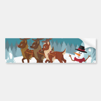 Reindeer in the Snow Bumper Sticker