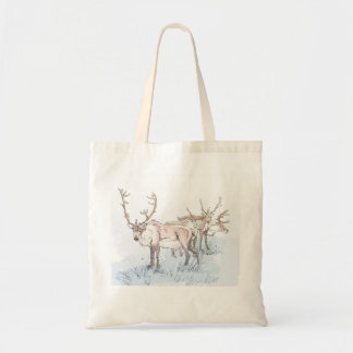 Reindeer in the Snow Tote Bag