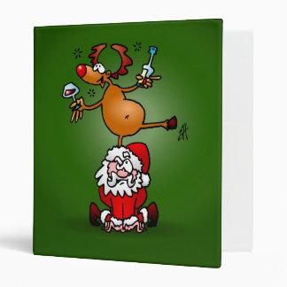 Reindeer is having a drink on Santa Claus Binders