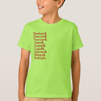 reindeer lists T-Shirt