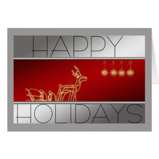 Reindeer made of lights Christmas Note Card