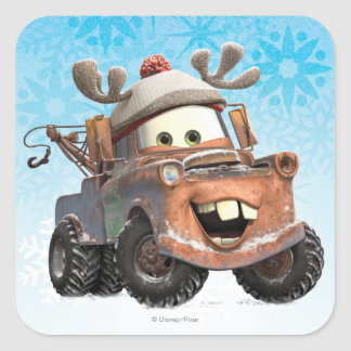 Reindeer Mater Square Sticker