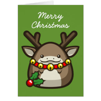 "Reindeer ""Merry Christmas"" Card"