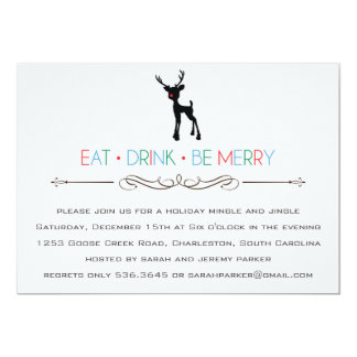 Reindeer Mingle and Jingle Invitation