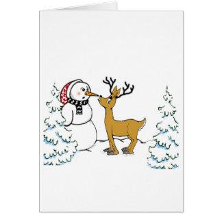 Reindeer Mischief Card