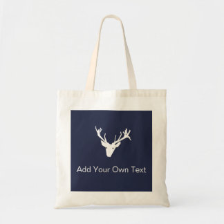 Reindeer Modern Graphic Design Christmas Tote Bag