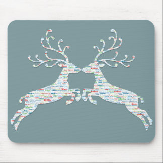 Reindeer Names Cut Outs Mouse Pad