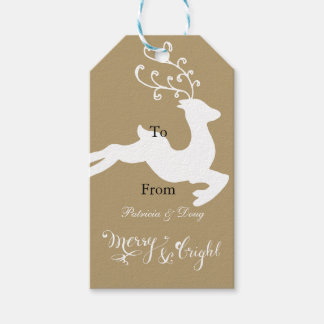 Reindeer Pack Of Gift Tags