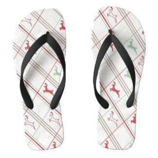 Reindeer Pattern Flip Flops